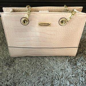 Anne Klein lt pink snake print purse